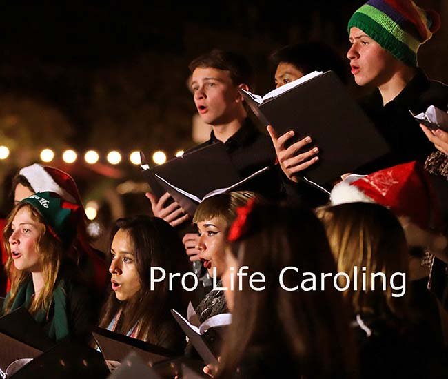 Peace in the Womb Pro-Life Christmas Caroling Across America